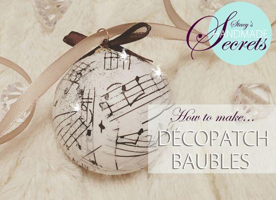 DIY Decopacth Christmas bauble decoration