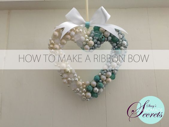 How to make a ribbon from a fabric ribbon