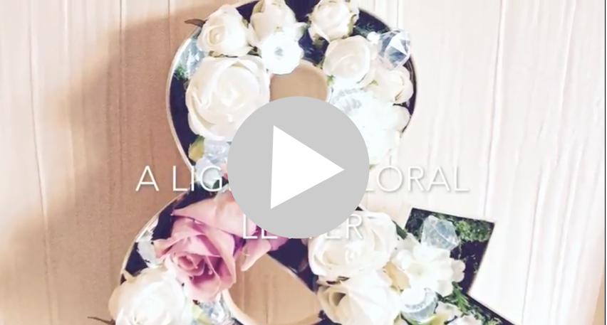 DIY Floral Letter