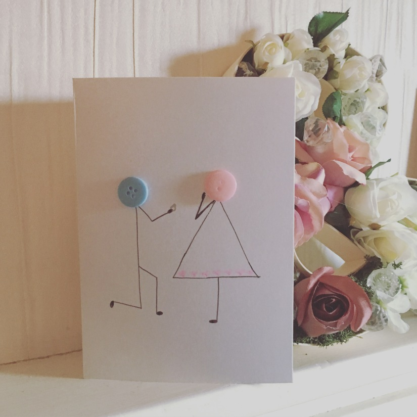 Unique button greeting card