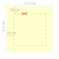 Measurements of an aperture for a box frame measuring 30x30cm