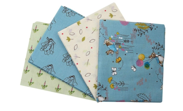 4 Peter Rabbit Fabric Fat Quarter