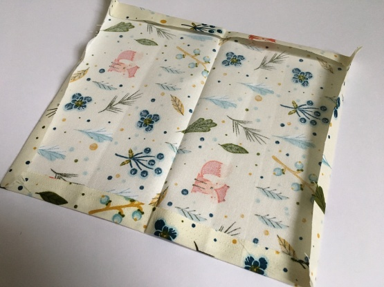 Fabric edges have been folded over