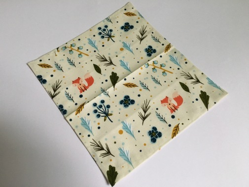 Large piece of fabric in a square shape