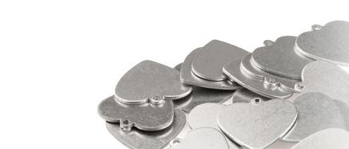 A Pile of blank heart pendants
