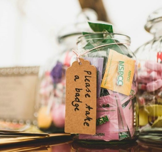 Wedding favours from NSPCC