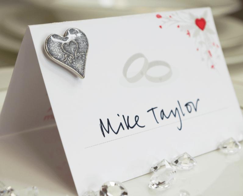 British Heart Foundation Pin badge wedding favours