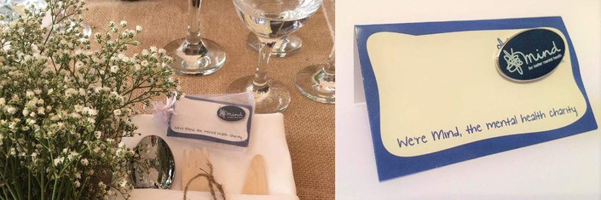 Mind Charity Badge, Wedding Favour